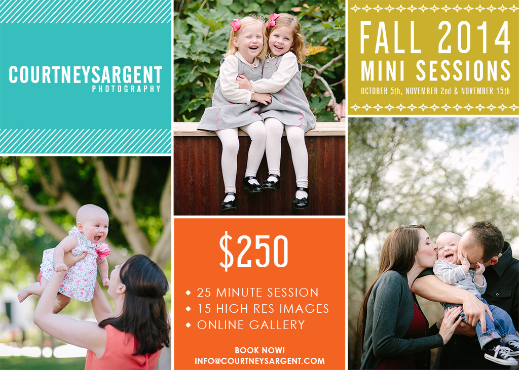 Fall 2014 Mini Sessions are here!