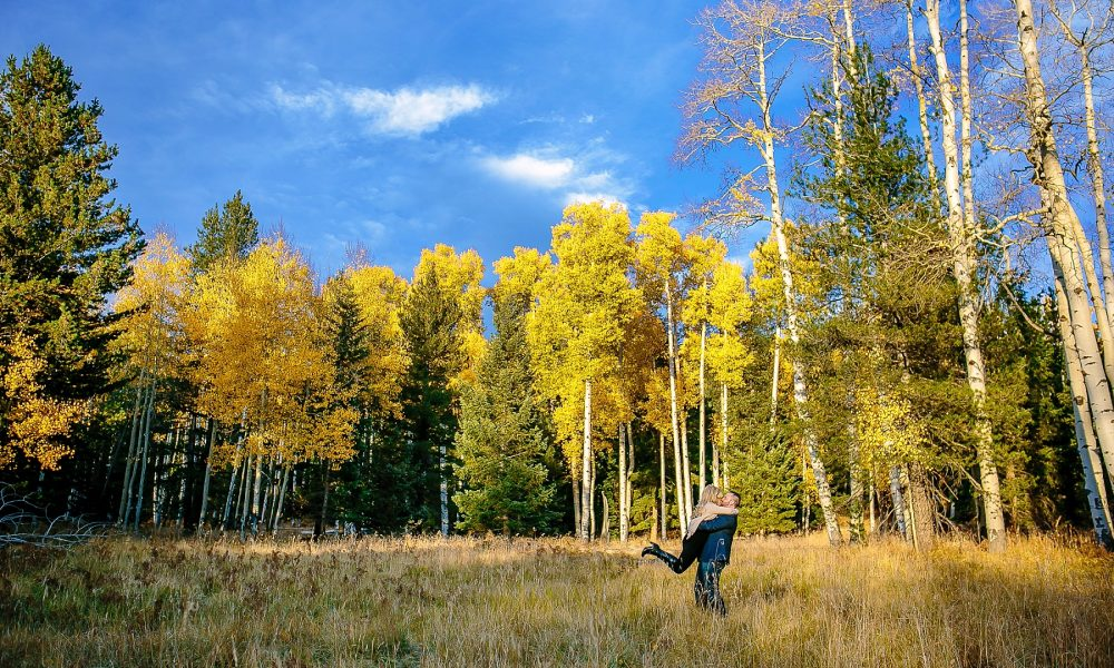 Ashley & Blake's Flagstaff Fall Colors Engagement Session